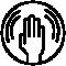 Granberg anti-vibration glove symbol