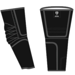 black kozane arm guards