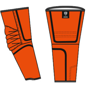 orange arm guards