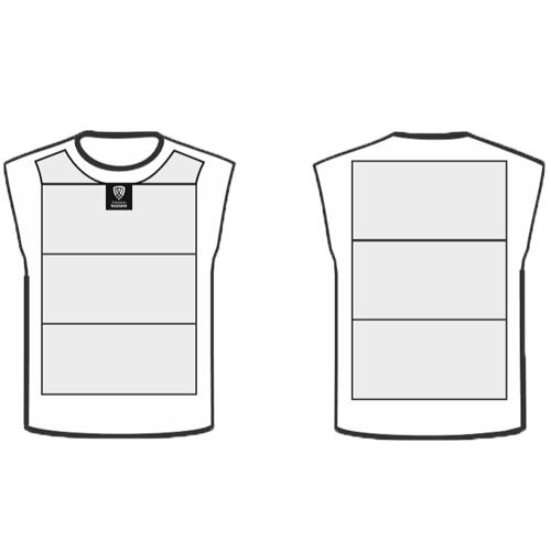 front and back of slash resistant vest