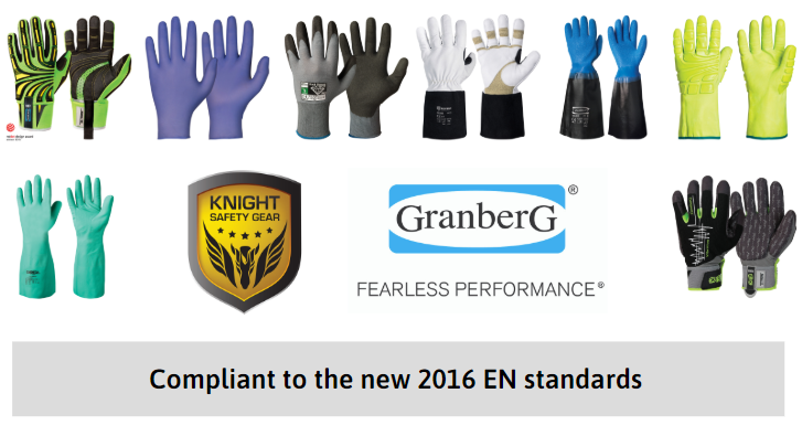 knight safety gear and granberg gloves