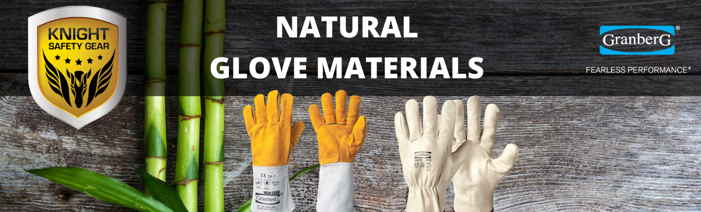 natural glove materials such as bamboo and leather