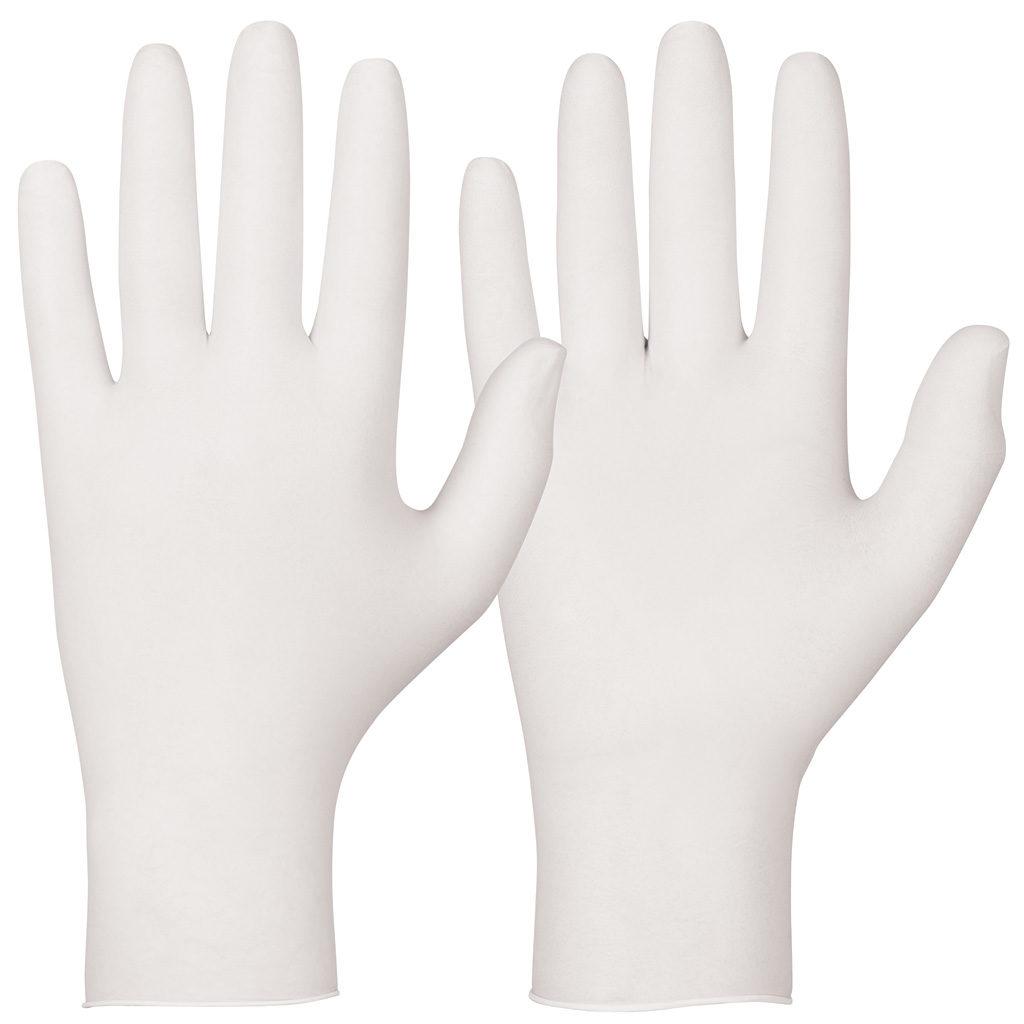 white single use glove