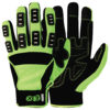 assembly gloves green and black