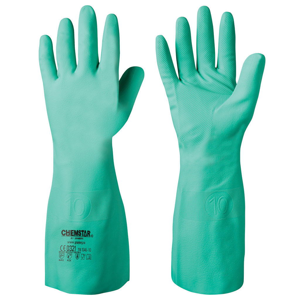 green chemical resistant gloves