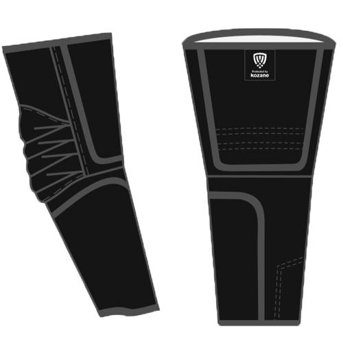 black kozane arm guards