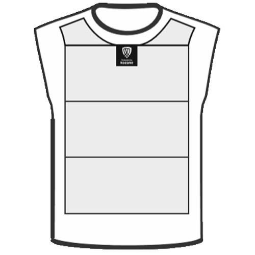 white slash resistant vest