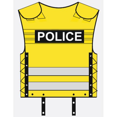 yellow police vest