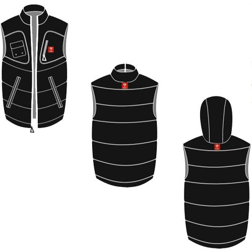 bomber jacket vest front and back