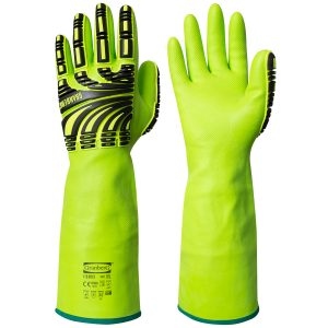 chemical resistant impact gloves
